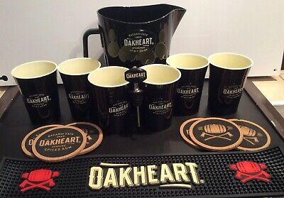 Bar Runner Drink Mats Bacardi Oakheart Drink Set New Pitcher Cups Pourer