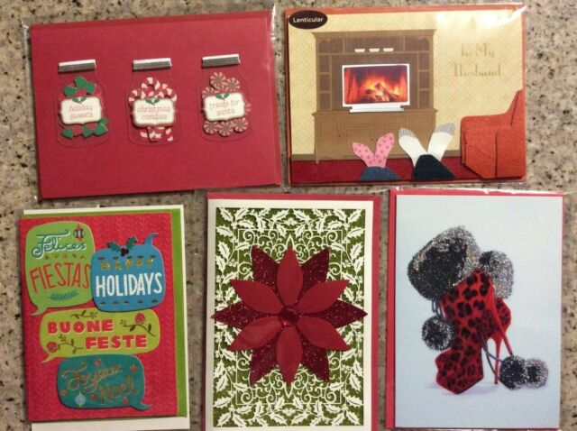 High Quality Christmas Cards pack of 5 Papyrus Cards