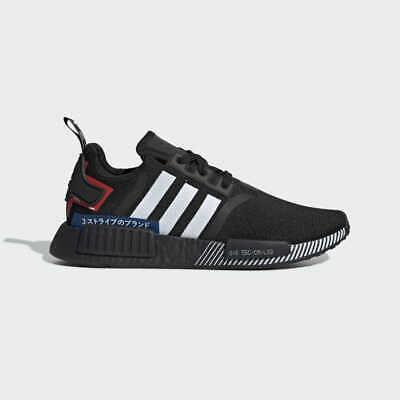 New Men S Originals Nmd R1 Shoes Core Black Cloud White Lush Blue Ebay