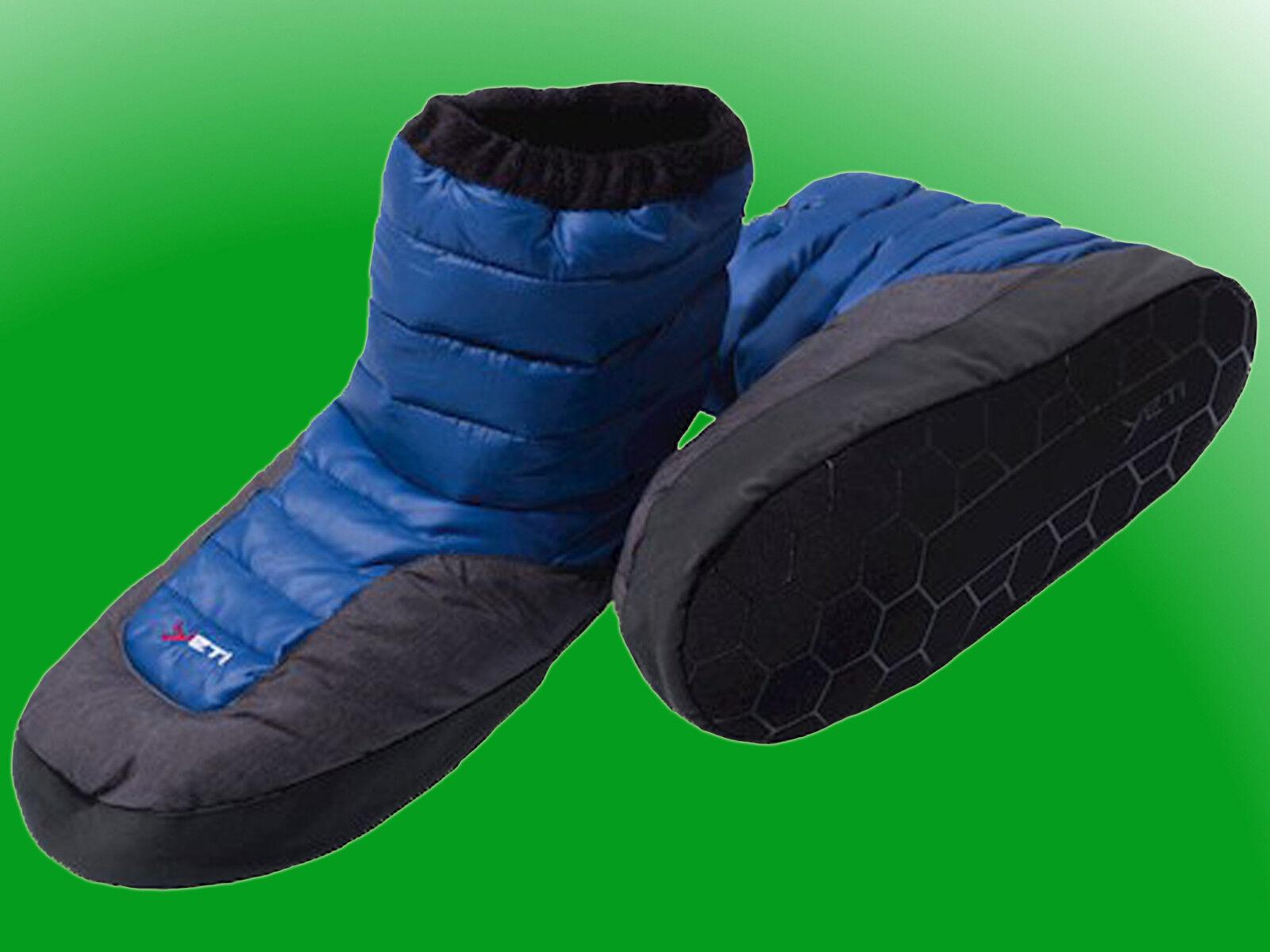 Yeti Sundown Daunenstiefel, Hüttenschuhe, Hausschuhe, Outdoor, Down Stiefel blau