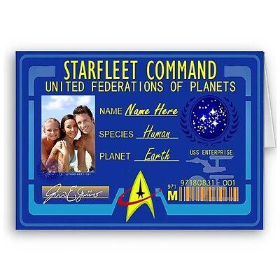 Personalised Name & Photo Starfleet Command Star Trek Birthday Christmas A5 Card