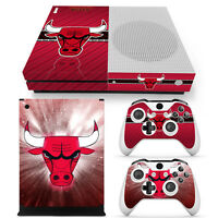 Xbox One S Console, Controller And Kinect Skin Set - Nba Bulls