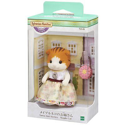 Epoch Calico Critters Families town series Town Girl Series Silk Cat TVS-03