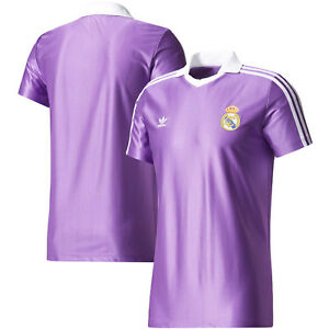 Details about adidas Originals Real Madrid FC 2017 - 2018 Retro Soccer Jersey Brand New Purple