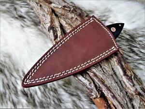 sehr schönes Hand geschmiedetes Damast Jagd Messer Damast  Messer