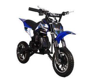 KIDS-49cc-50cc-2-Stroke-GAS-Motor-Mini-Pocket-Dirt-Bike-Free-S-H-BLUE-M-DAKAR