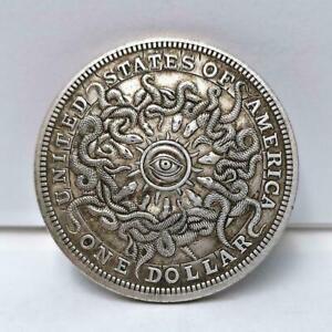 1-Dollar-Sky-eye-Snake-Commemorative-Silver-Coin-v-Y2W0