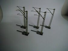 Märklin 7509, Steck-Mast für Oberleitung, K-Gleis Sockel, 5 Stück, Guter Zustand
