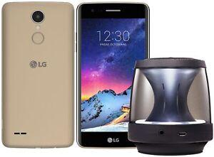 NEW-LG-K8-2017-4G-Smartphone-Unlocked-Sim-Free-Gold-with-Bluetooth-Speaker