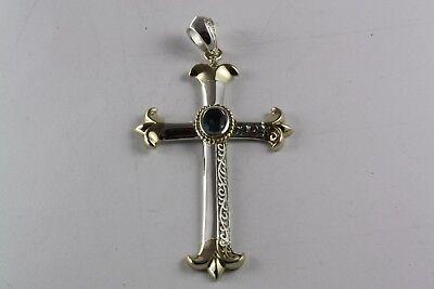 Tempelritter Templar Kreuz AnhÄnger Lilien AnhÄnger Vergoldet 925 Silber / 063 Gute QualitäT