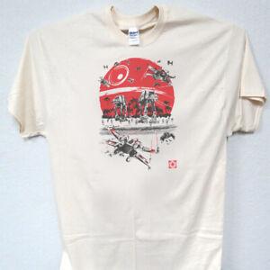 Star Wars Battle Of Endor Death Star Attack Millennium Falcon TIE T-Shirt MEDIUM