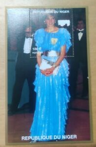 #4 1997 Princess of Wales Lady Diana Miniature Stamp MNH Niger