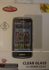Handytasche  + 3 x Displayschutzfolie für Nokia C6-01 Handy Case Universaltasche