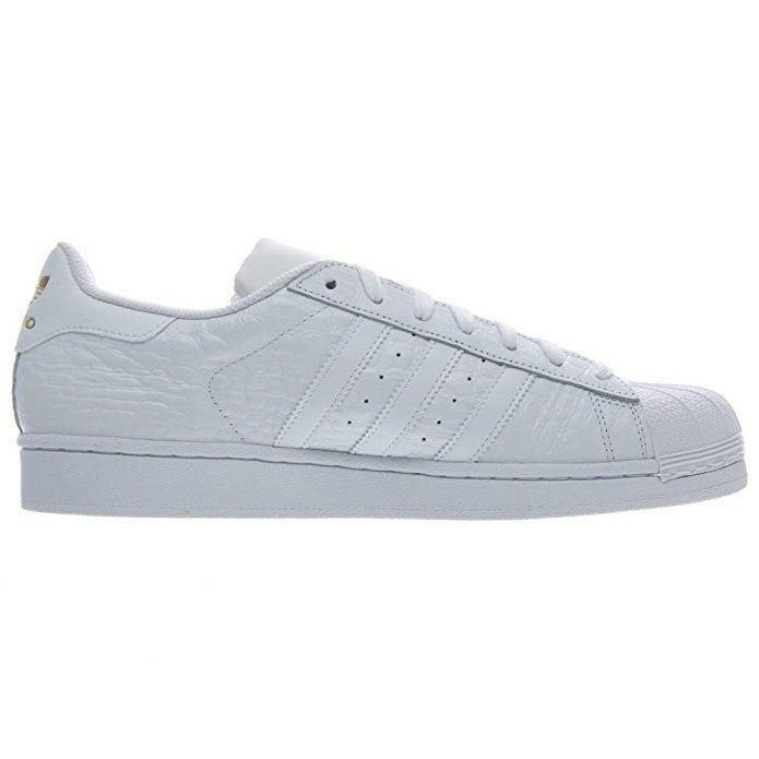 Mens ADIDAS SUPERSTAR Weiß Leather Casual Trainers AQ6686
