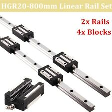 New Listing2pcs Hgh20 800mm Liner Rail Guide With 4pcs Hgh20ca Bearing Block Us Shipping