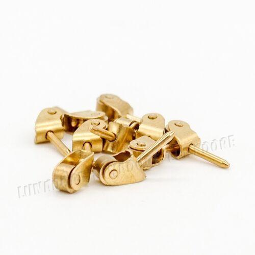 10PCS Hardware Furniture Miniature Pulley Gold Wheel 1:12 Dollhouse Accessory
