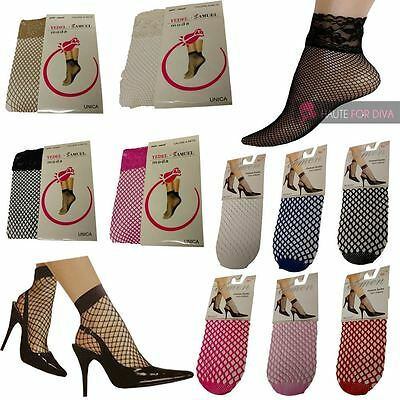 Kenntnisreich Ladies New Fishnet Net Lace Ankle Length Socks