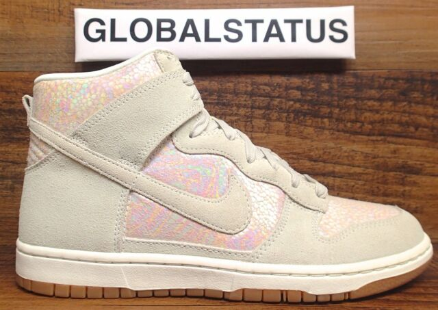 NIKE WOMENS DUNK HIGH SKINNY PRM IRIDESCENT METALLIC SHOES 472488 005 SIZE  9.5 d7b65de19