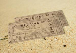 75 Destination Vintage Ticket Safari Wedding Invitations The Invite