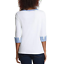 NEW-NAUTICA-WOMEN-039-S-3-4-CUFFED-SLEEVE-CHAMBRAY-CASUAL-TOP-VARIETY thumbnail 4