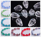 20 Faceted Glass Crystal Finding Teardrop Spacer Loose Beads 10x14mm Clear Color