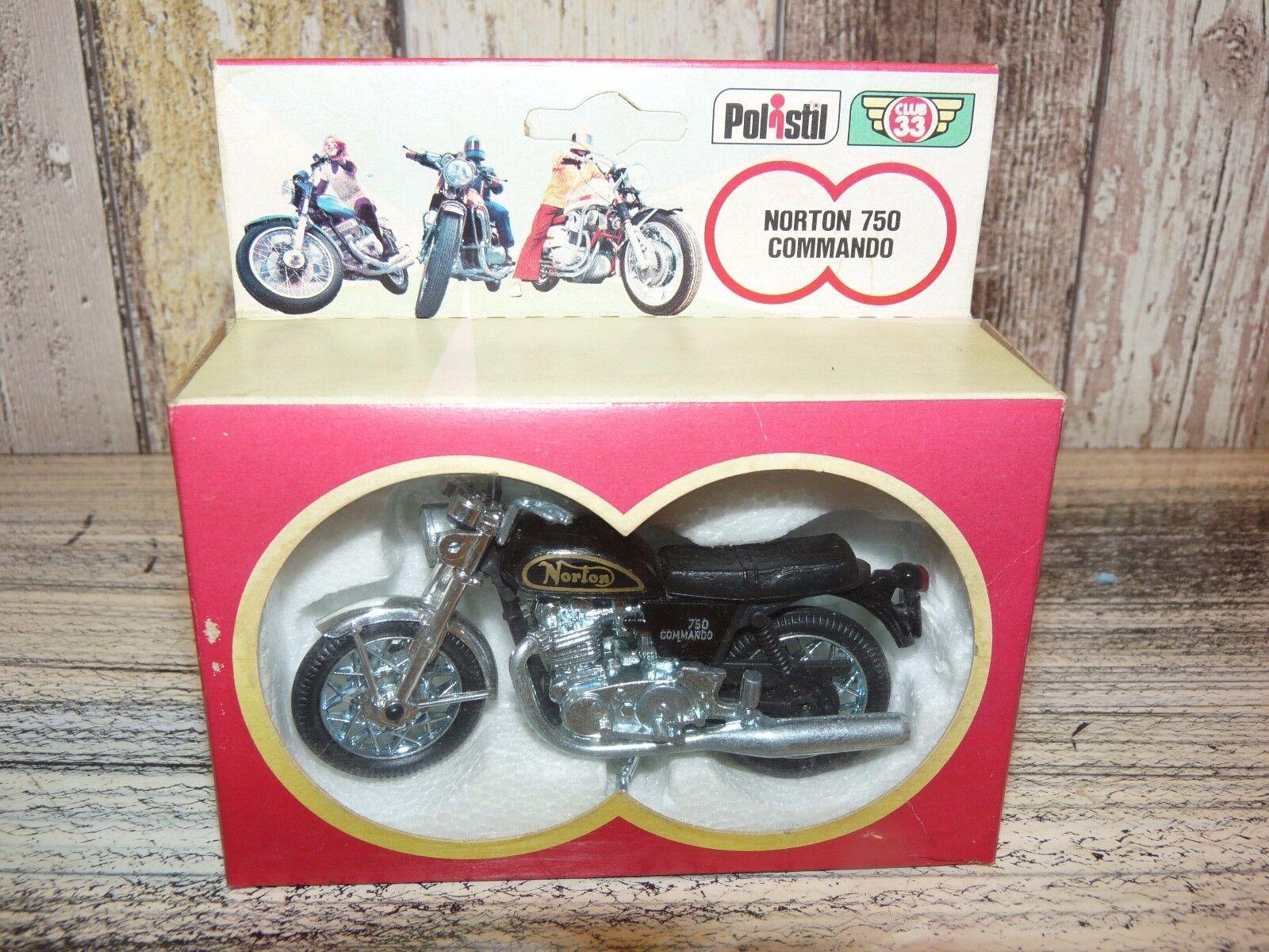 RARE POLISTIL Norton 750 Commando Motor Motorcycle Toy Sc.1 24 BOX Club 33 1970