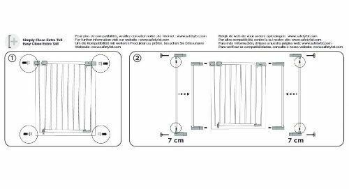 Safety 1St Barrière Extension Blanc 28 cm Safety Stair Gate BN
