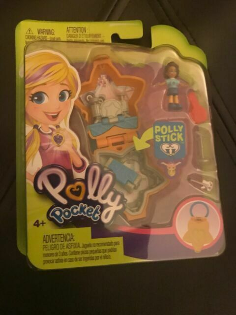 2018 Orange Star Locket Polly Pocket Tiny World Rock Star Mattel