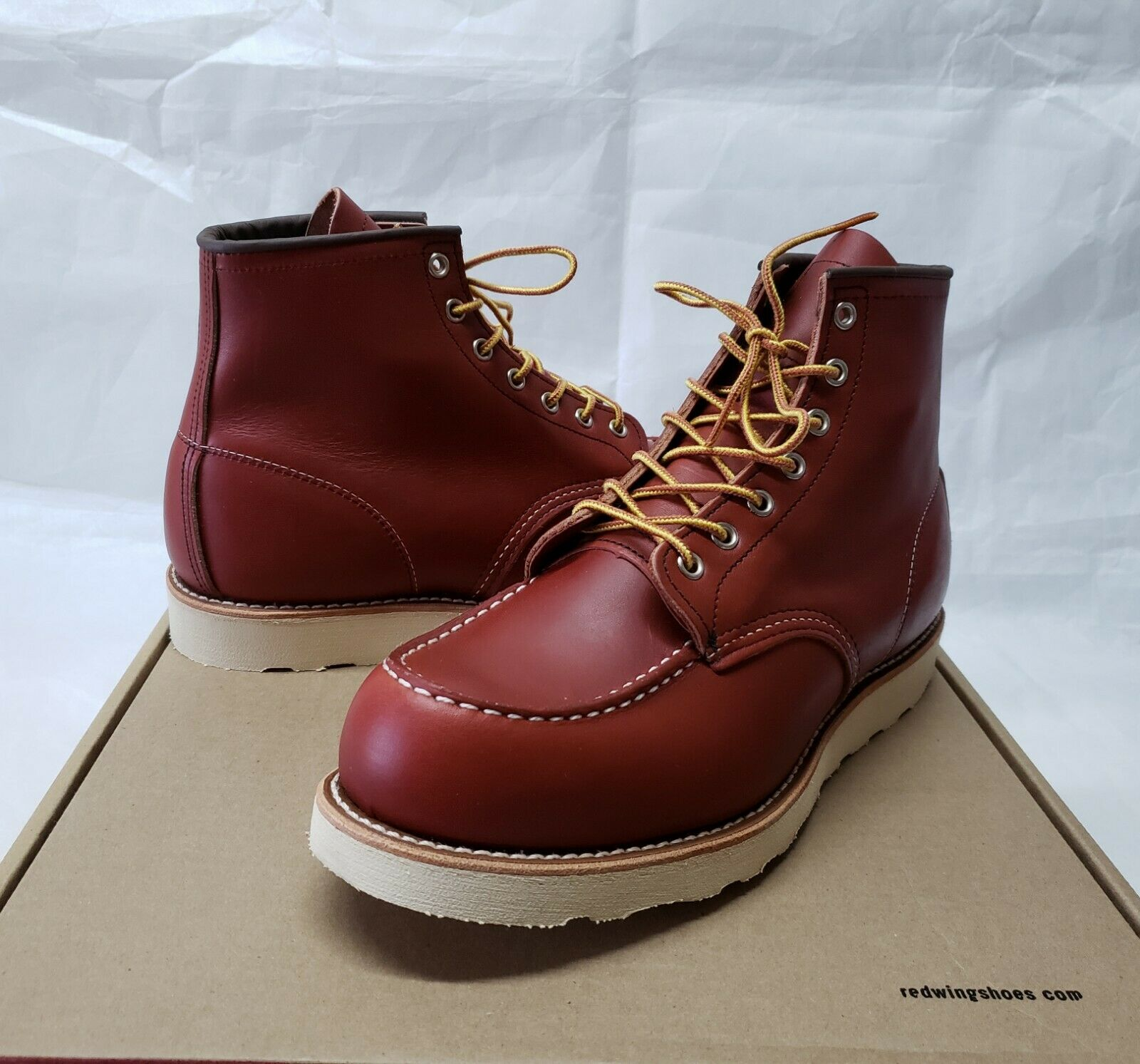 1st Quality Red Wing Moc Toe gold Russet Portage 8131 Boots 875 Iron Ranger 10.5E