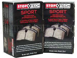 Front /& Rear Set for Audi//VW Stoptech Sport Brake Pads