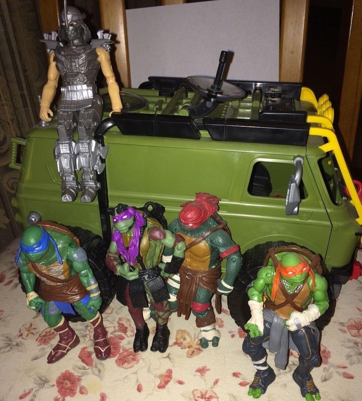 Teenage Mutant Ninja Ninja Ninja Turtles 2014 Movie Turtle assault van w  Figures TMNT RARE dbbb2c