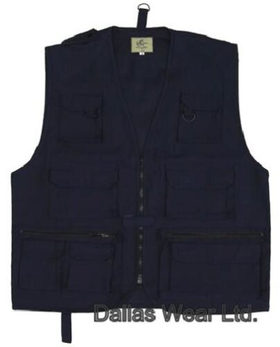 MULTITASCA Pesca Caccia Gilet Vest navy blue