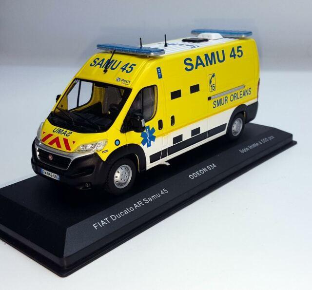 Ambulance FIAT Ducato SAMU 45 SMUR ORLEANS 1/43 Véhicule de Collection