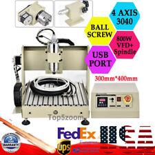 Usb 4axis 800w Cnc 3040t Router Engraver Cutting Wood Drill Machine Ballscrew Us