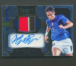 2016-17 Panini Select Filippo Inzaghi Jersey Autographs Patch Auto 047/199 8H