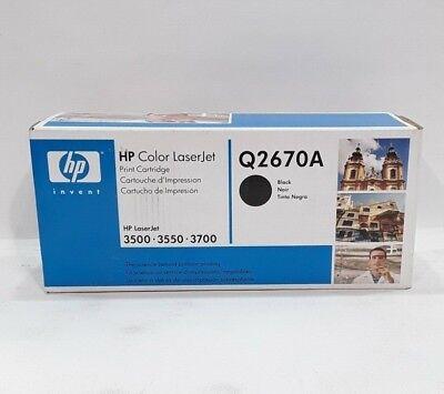 GENUINE HP 308A Q2670A Black Toner Cartridge LaserJet 3500 3550 3700 NEW OEM