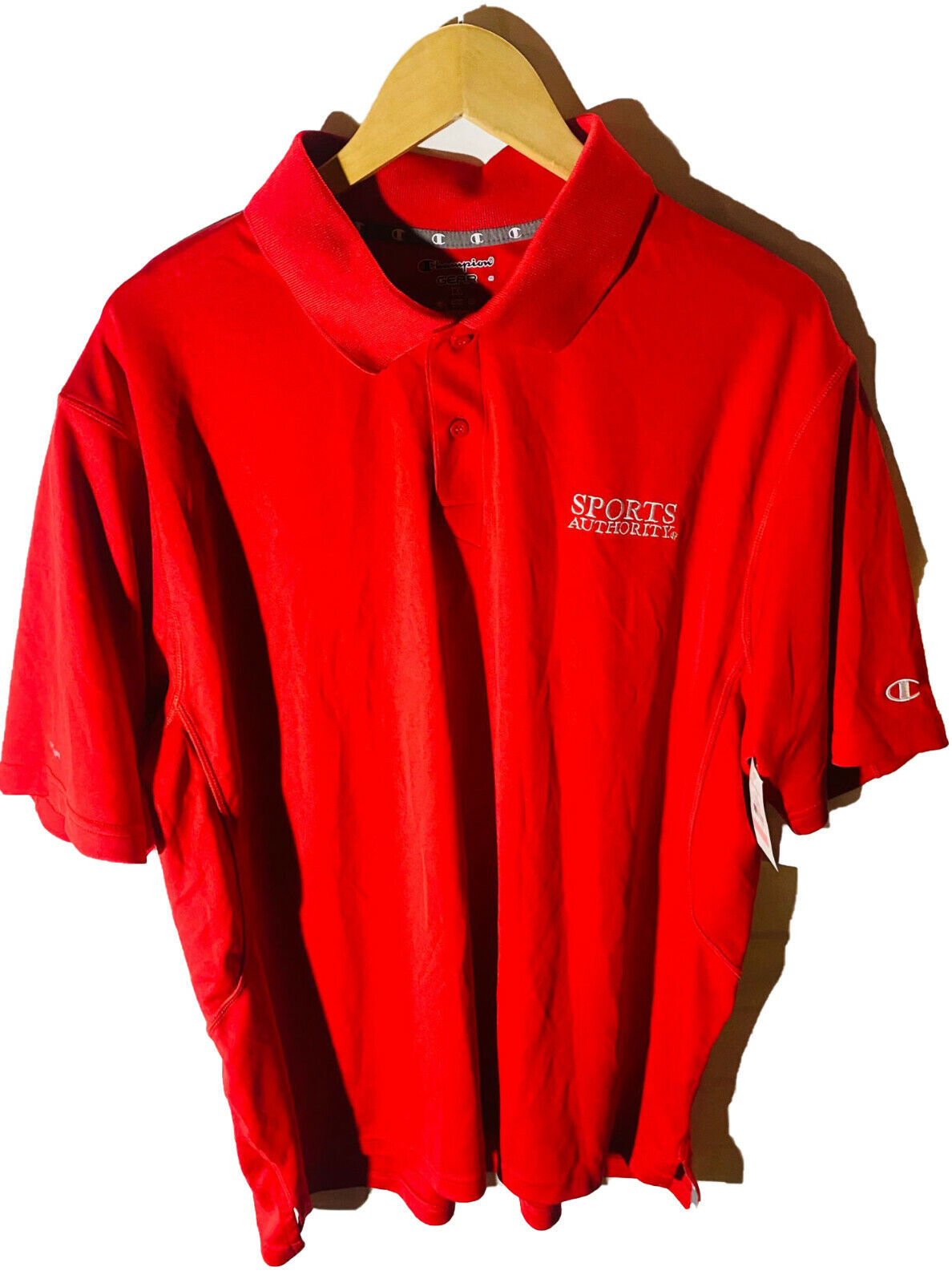 Champion Gear Sports Authority Men's Short Sleeve Polo Shirt Red XL