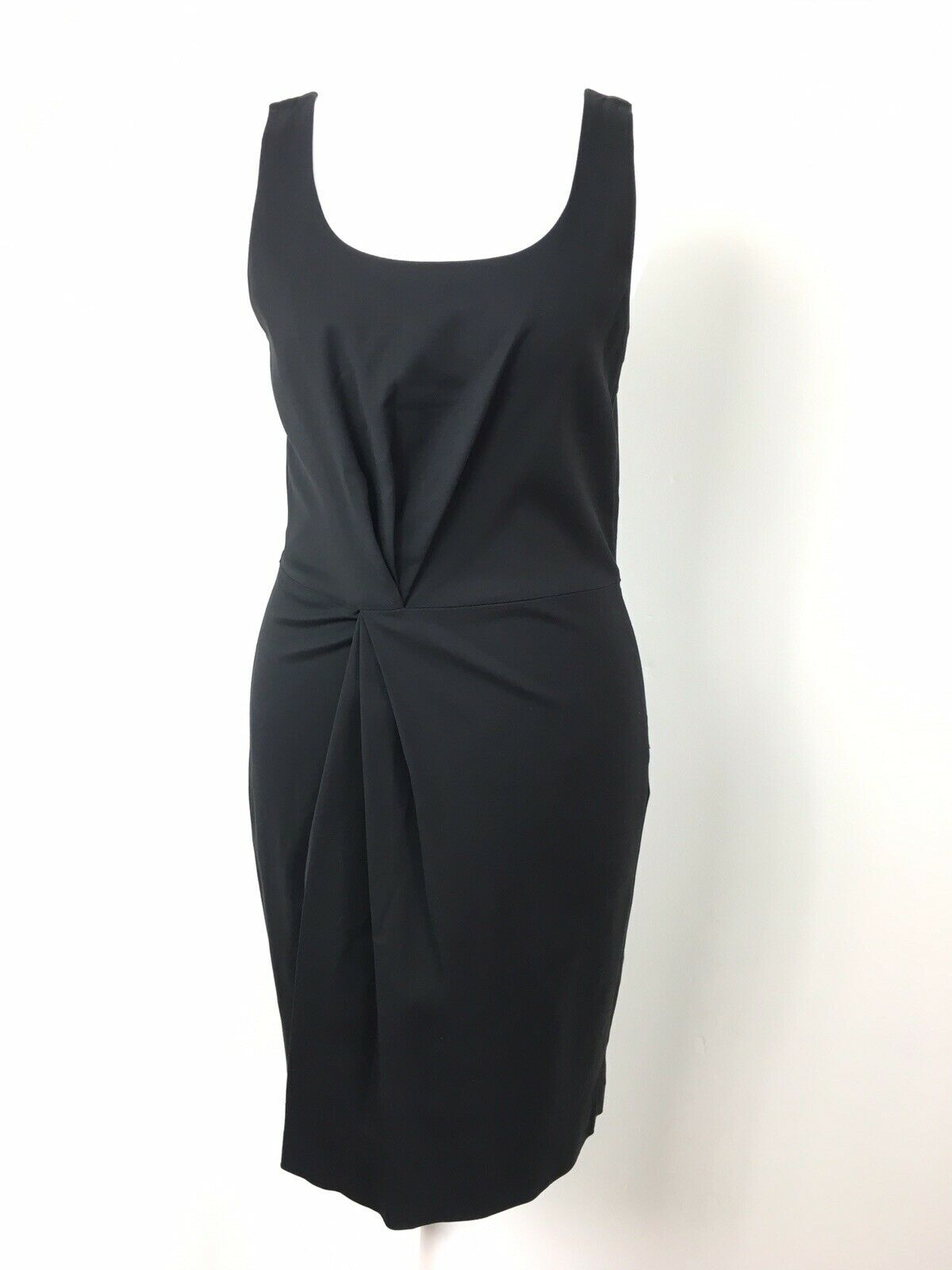 BNWT RRP  Armani Exchange schwarz Dress Twisted Ponte Mini LBD Party US 2