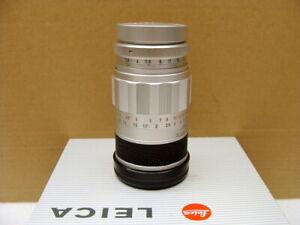 Leitz-Wetzlar-Leica-Elmarit-M-2-8-90mm-silbern-034-saubere-klare-Optik-034-RAR