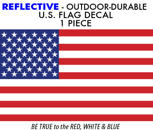 REFLECTIVE United States FLAG 1 pc decal sticker