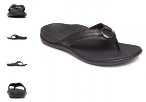 Vionic Tide Aloe Black Toe-Post Sandal Flip Flop Women/'s US sizes 5-12 NEW!!