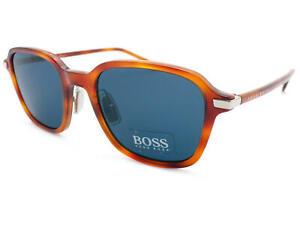 885e27035af HUGO BOSS Amber Brown Havana unisex Sunglasses  Dark Grey CAT.3 Lens ...