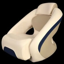Chaparral Boat Bolster Seat 31.00038   Veada Champagne / Mariner Blue
