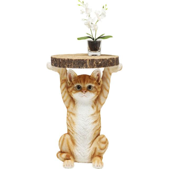 Tisch Beistelltisch Ablage Blumentisch Tiertisch Hund Braun Ms. Cat NEU KARE