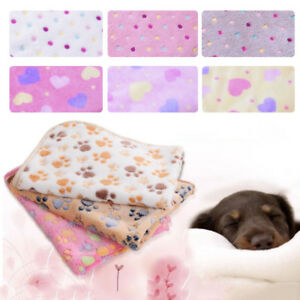 Warm-Pet-Mat-S-M-L-Paw-Print-Cat-Dog-Puppy-Fleece-Soft-Blanket-Bed-Cushion-Gift