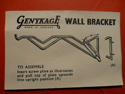 Orderly New Old Genykage Wall Bracket For Cages Very Nice And Quality Vintage 30's-40's Professional Design Other Bird Supplies