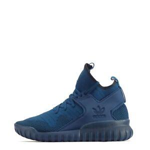 Adidas-Originals-Tubular-X-Primeknit-Hommes-Baskets-Decontractees-Chaussures-en-Bleu