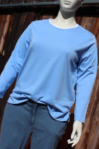 Damen 3//4-Arm-Shirt 2-in-1-Optik dunkelblau//weiß Größe 32//34 36//38