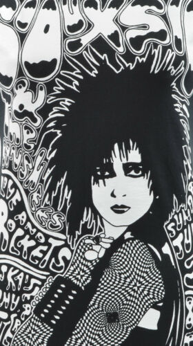 LADIES T-SHIRT SIOUXSIE SIOUX AND THE BANSHEES POST PUNK GOTH GIG FLYER S-2XL