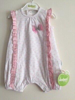 Baby Girl Jumpsuit 3 6 9 12 Months Bebessi White W Pink Bow Tie Prints Ebay